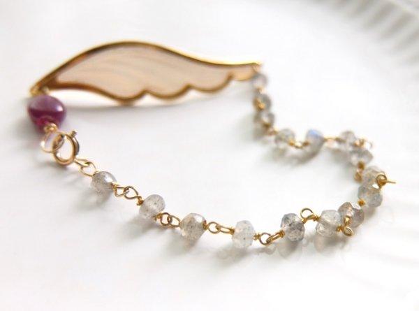 画像5: ルビー*天使の羽のブレスレット