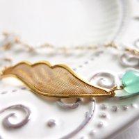 クリソプレーズ*天使の羽のブレスレット