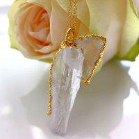 クンツァイト原石 アフガニスタン産 天使のネックレス