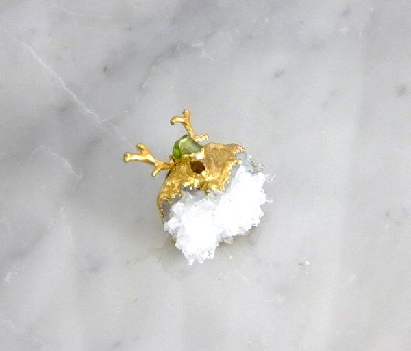 画像2: 水晶クラスター アントレのピンブローチ