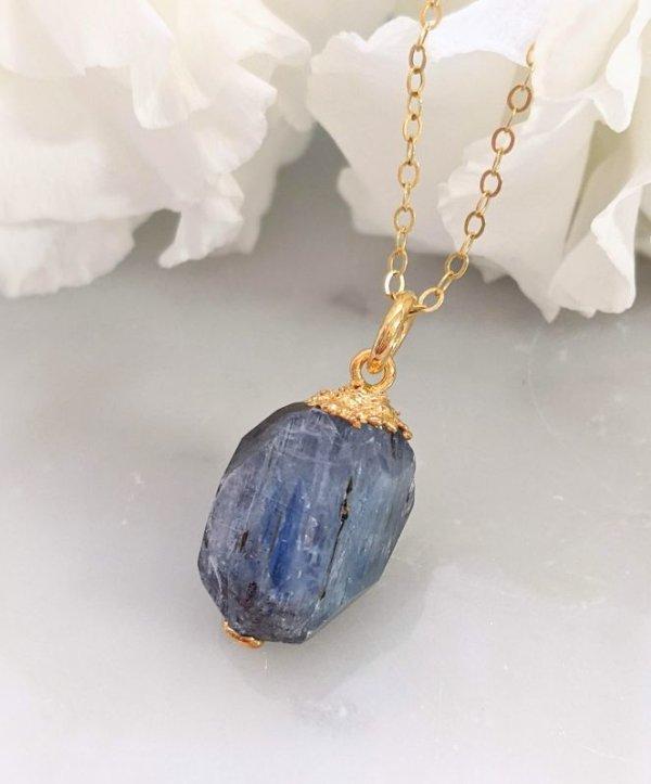画像1: カイヤナイト原石 ペンダント